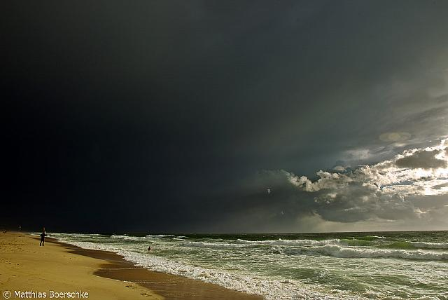 Wetterstimmungen in Westerland am 12.08.13.